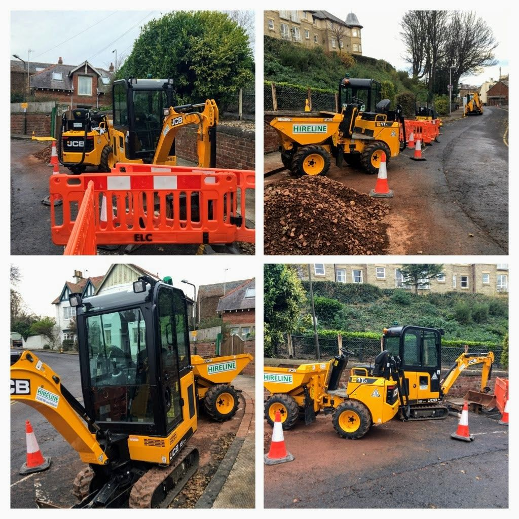 Hireline excavator and dumper hire East Lothian